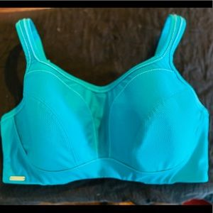 Chantelle Sports Bra Blue Teal size 38DDD